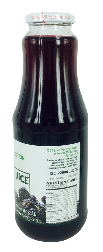 100% Pure Mulberry Juice 1000ml