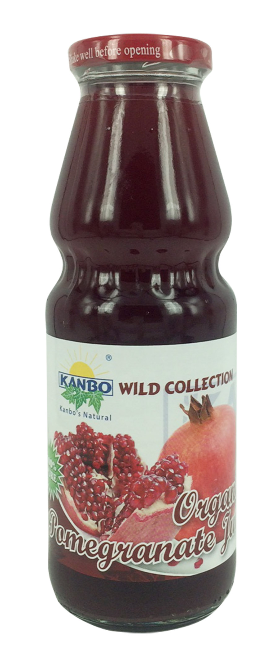 100% Organic Pure Pomegranate Juice 330ml